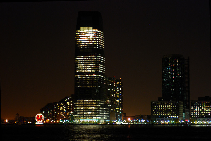 Jersey city from Lower Manhattan.<br /> <br /> Nikon D80 with Tamron 28-75mm f/2.8 lens at iso400, 75mm, f/2.8, 1/3sec.