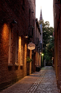 Alley in Charleston South Carolina.