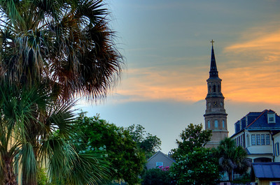 Charleston at sunset. South Carolina