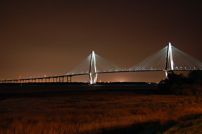 Charleston's Ravenel Bridge at night