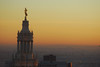 Top of the Municipal Building at sunset, 1 Centre St., Mannhattan, New York.