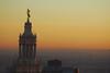Top of the Municipal Building at sunset, 1 Centre St., Mannhattan, New York.