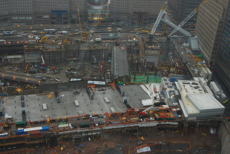 The rebuilding of the World Trade Center.