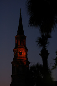 South Carolina icon at night. Charleston, South Carolina