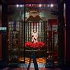 Los Angeles Chinatown; Buddha amongst the Poinsettias