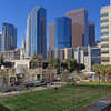 Los Angeles skyline from Police Building