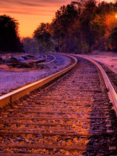 Tracks through town HDR