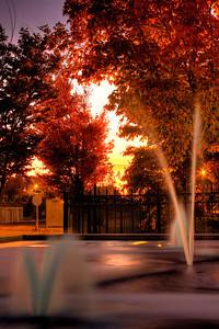 Fountain Sunrise HDR