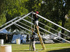 Assembling a Tent for Music in the Park