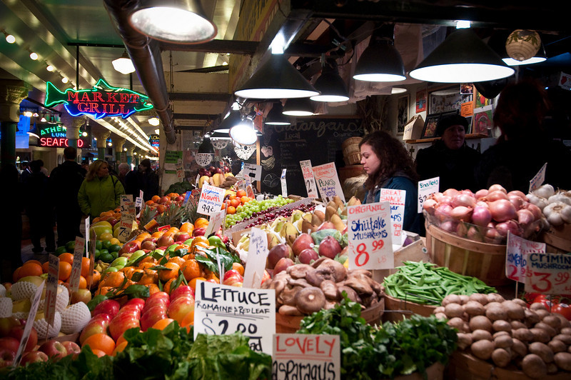 Fruit and Veggies at Pike Place Market...Yum