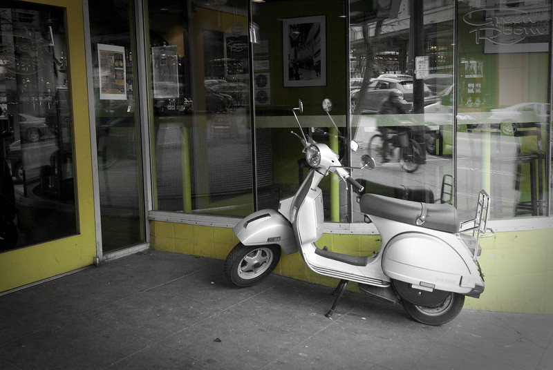 Moped at the Green Room