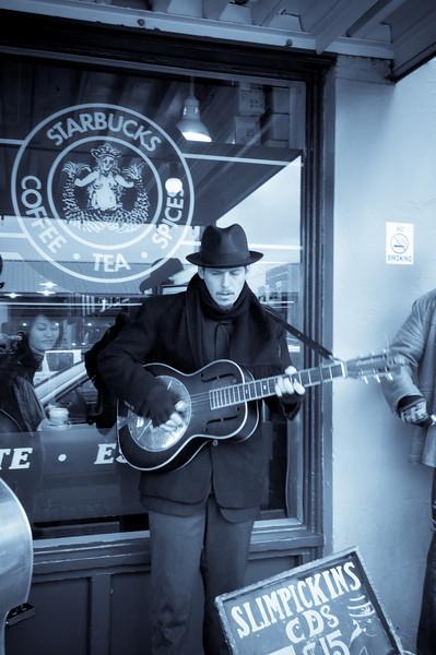 Musician at First Starbucks