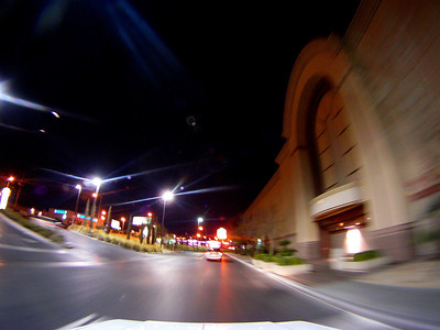 Driving on the Vegas Strip