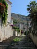 Steps down into Dubrovnik from the hill above, Croatia