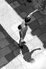 Tourist and his shadow - Dubrovnik, Croatia