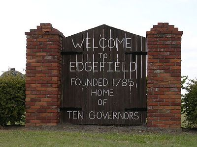 Edgefield, SC City Limit Sign
