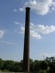 Mill smoke stack, Edgefield, SC