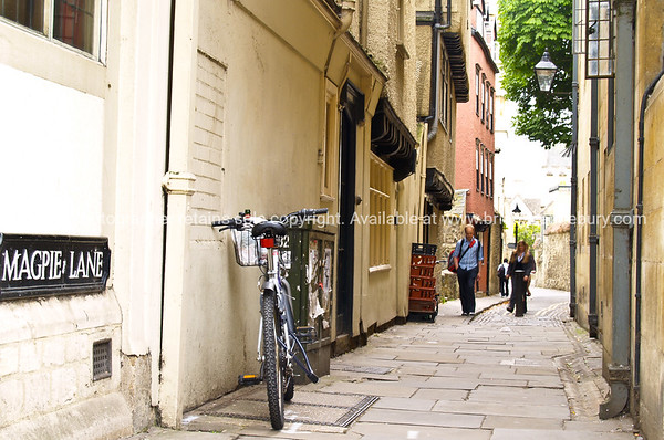 Magpie Lane, historic cobbled lane, Oxford, England, UK.
