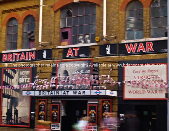 Britain at War, signs and memorabillia. London, UK.