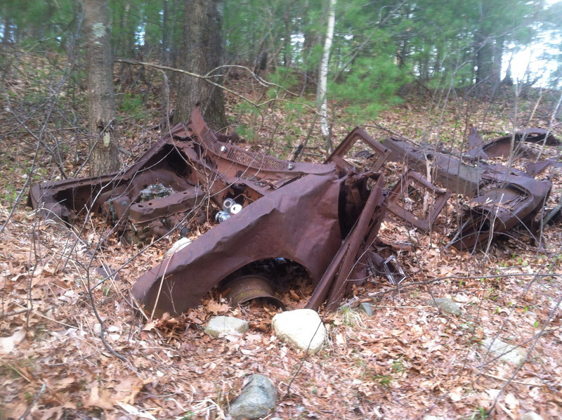 Abandoned wrecked car.