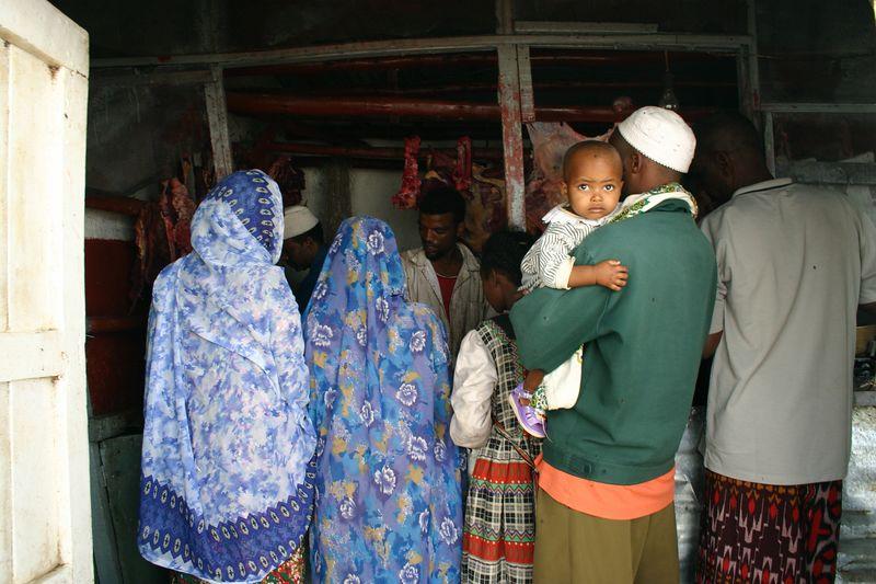 butcher's shop, harar, ethiopia