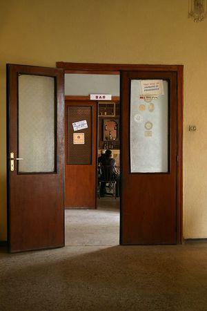 bar at the africa hotel, axum, ethiopia