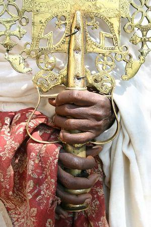 holy cross at the church of narga selassie, lake tana, ethiopia