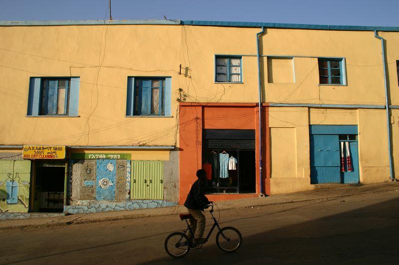 boy on bicycle, gondar, ethiopia