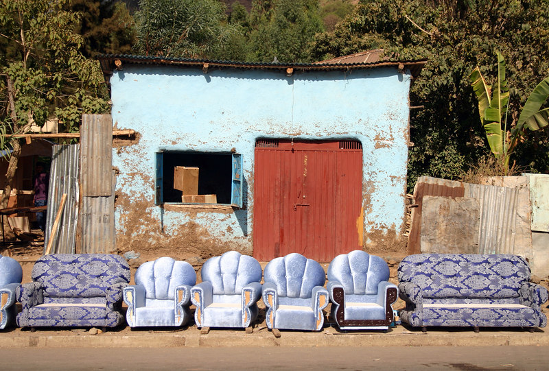 furniture maker's shop, road to fasil's pool, gondar, ethiopia