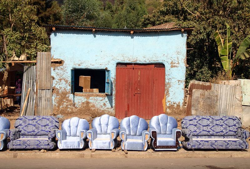 furniture maker's shop, road to fasil's pool, gondar, ethiopia