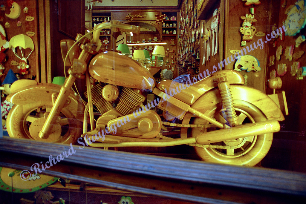 Florence Pisa wooden motorcycle