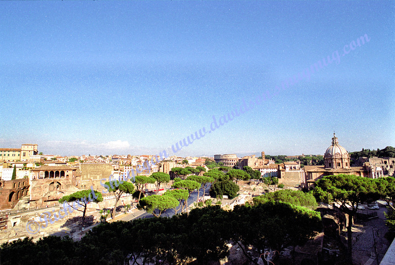 Rome view from tomb of the unknown soldier