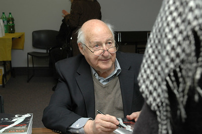 Eric Koch signing books at the launch on December 4, 2010