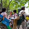Coming home from school via rickshaw