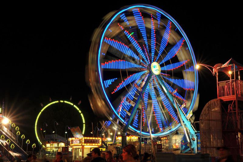 Exchange Club Fairgrounds at Night in Brunswick, Georgia 10-30-13