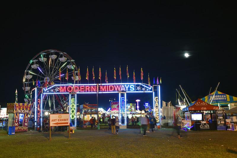Exchange Club Fairgrounds at Night in Brunswick, Georgia 10-30-15