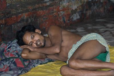 Sleeping in an unused water pipe