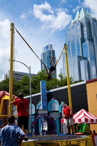 Kid Fun At The Pecan Street Festival. Austin, Texas