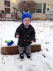 "Lisa Griesemer-Slater submitted this photo via Facebook, saying: ""Was not a fan of his first time in the snow."""