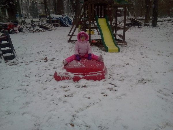 Carly Buhl submitted this photo via Facebook of her daughter Emily enjoying the snow.