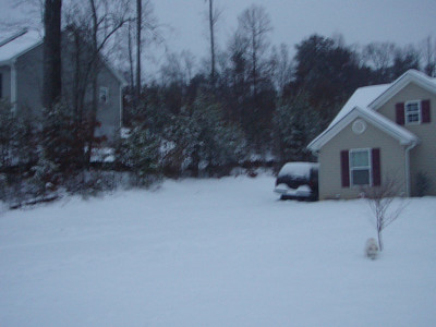 First snow of 2007