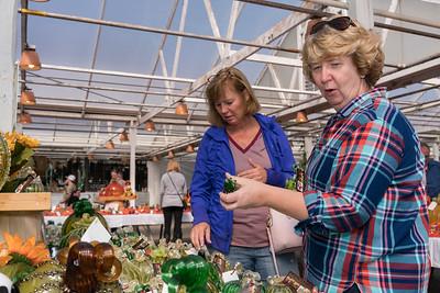 Friends glass shopping