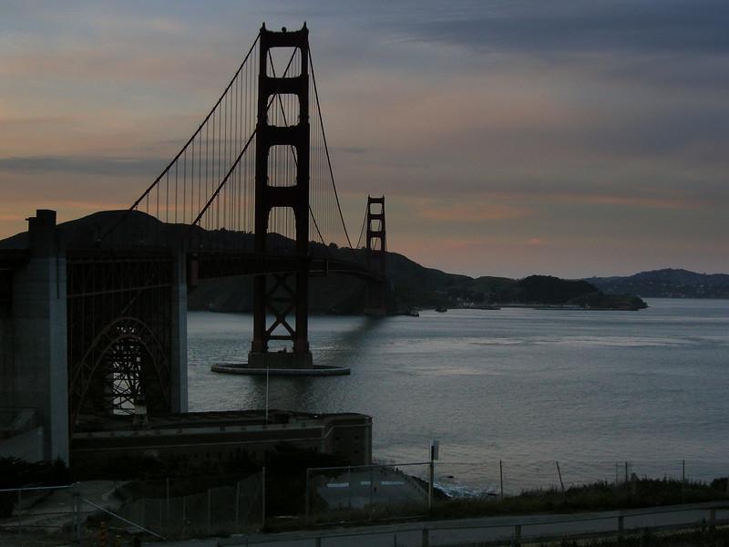 Golden Gate Bridge Sunset 4-2-2008 6-26-21 PM