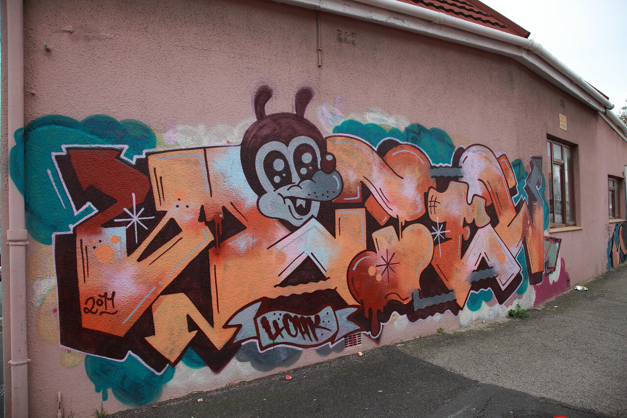 Wall art in Woodstock, Cape Town