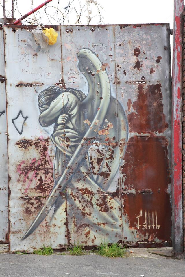 Street art in Woodstock, Cape Town, by Faith