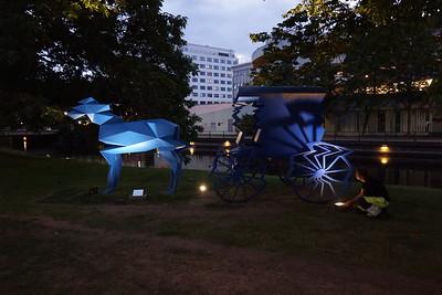 Hästen Stadsparken + knallen 150820