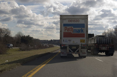 Another truck driver that doesn't know the rules of the road or doesn't read english.