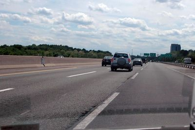 A view of the right lane - where no one wanted to be!
