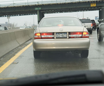 Typical NY driver. Cuts cars off to gain a few feet in stop-and-go traffic.