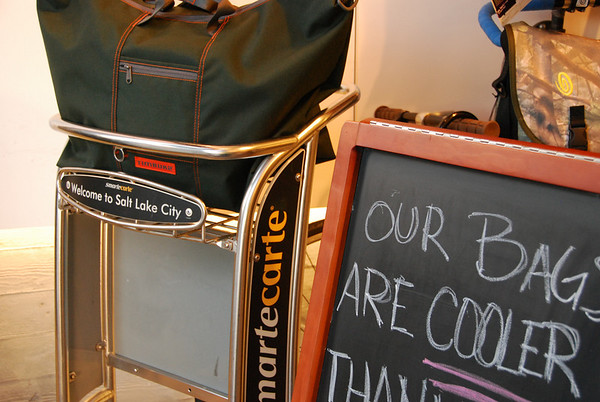 Silliness - SLC airport luggage cart in Tumbuk2. Just couldn't pass it by.